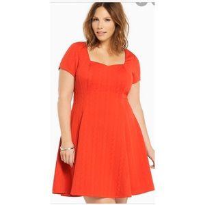 Torrid Red Sweetheart Skater Dress size 3